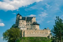 Medieval castle. In Bobolice. Poland Royalty Free Stock Photos
