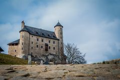 Medieval castle. In Bobolice. Poland Stock Photography