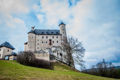 Medieval castle. In Bobolice. Poland Stock Image