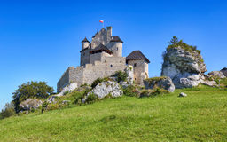 Medieval castle Bobolice, Poland Stock Photos