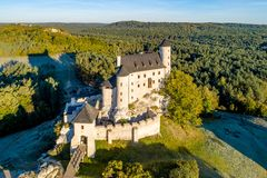 Medieval Bobolice Castle in Poland stock photography