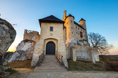 Medieval castle in Bobolice, Poland. Medieval castle at sunset in Bobolice, Poland Royalty Free Stock Photography