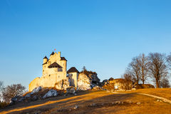 Medieval castle  in Bobolice, Poland. Medieval castle at sunset in Bobolice, Poland Stock Image