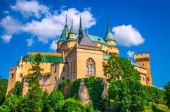 Medieval castle in Bojnice stock images