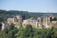 Medieval Castle of Bouillon in Belgian Ardennes Stock Photos