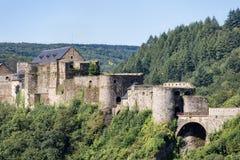 Medieval Castle of Bouillon in Belgian Ardennes Stock Photos