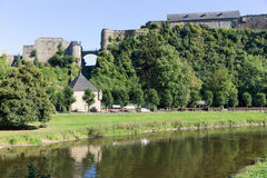 Medieval Castle of Bouillon in Belgian Ardennes Stock Photo
