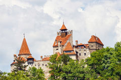Medieval Castle of Bran. Also known for the myth of Dracula Stock Photos