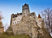 Medieval Castle of Bran Dracula`s castle, Brasov, Transylvania, Romania Royalty Free Stock Photo