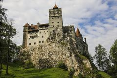 Medieval Castle of Bran, known for the myth of Dracula. Brasov,. Transylvania. Romania. Europe stock photo
