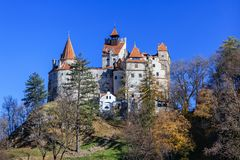 Medieval Bran castle. Brasov Transylvania, Romania Royalty Free Stock Photos
