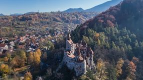 Medieval Bran castle. Brasov Transylvania, Romania Royalty Free Stock Photography