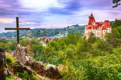 The medieval Castle of Bran known for the myth of Dracula. Brasov Transylvania. Romania. Europe stock images