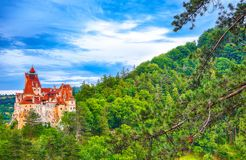 The medieval Castle of Bran known for the myth of Dracula. Brasov Transylvania. Romania. Europe stock image