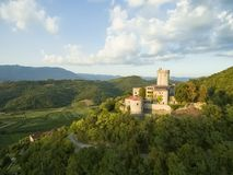 Medieval castle in Branik Slovenia central europe.  royalty free stock image