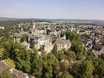 Castle Braunfels, Hesse, Germany. Medieval castle Braunfels on top of the hill, Hesse, Germany stock images