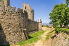 Medieval castle in Carcassonne, France. UNESCO list Stock Photo
