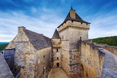 Castle of castelnaud, France. Medieval castle of castelnaud la chapelle, dordogne, perigord, France Royalty Free Stock Images