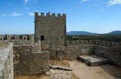 Medieval castle Castelo dos Mouros, Sesimbra, Portugal Stock Photos