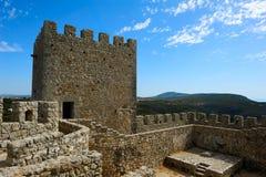 Medieval castle Castelo dos Mouros, Sesimbra, Portugal Stock Images