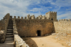 Medieval castle Castelo dos Mouros, Sesimbra, Portugal Royalty Free Stock Image