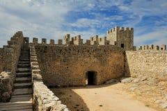 Medieval castle Castelo dos Mouros, Sesimbra, Portugal Royalty Free Stock Image