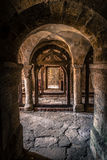 Medieval Castle Chapel. Colonnade in the castle chapel of medieval Burg Lohra in Thuringia, East Germany Royalty Free Stock Photo