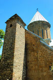 Medieval castle and church in Ananuri, Georgia Stock Image