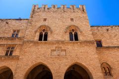 Medieval castle in the city of Rhodes Royalty Free Stock Image