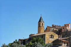 Medieval castle and clock tower Royalty Free Stock Image
