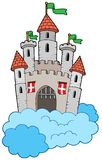 Medieval castle on clouds Stock Photo