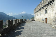 The medieval castle of Corbaro at Bellinzona Stock Photography