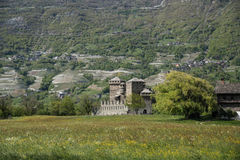 Medieval castle in the countryside Stock Photography