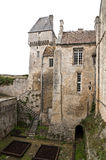 Medieval castle in Creully in France Stock Photos