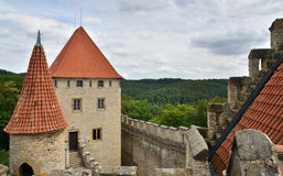 Medieval castle, Czech republic Royalty Free Stock Photos