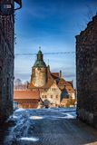 The medieval castle Czocha located in the town of Sucha stock image