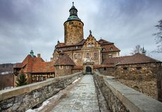 The medieval castle Czocha located in the town of Sucha stock photos