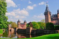 Medieval castle de Haar, Netherlands Royalty Free Stock Images