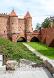 Medieval Castle with defensive towers in Warsaw, Poland Royalty Free Stock Photo