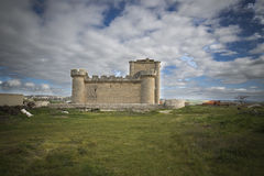 Medieval castle. Defensive medieval castle in Valladolid Spain Royalty Free Stock Images