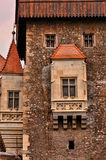 Medieval castle detail. Detail from the Corvins Castle, (XV century), located in Romania, on the Center of Hunedoara City, southwestern part of Transylvania stock photos