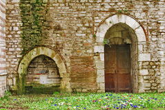 Medieval castle door Stock Photo