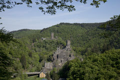 Medieval castle in the Eifel mountains Stock Image