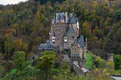 Medieval castle Eltz, located on the mountain in Germany Royalty Free Stock Images