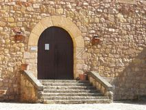 Medieval castle entrance Royalty Free Stock Images