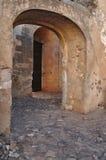 Medieval castle entrance in Algarve Royalty Free Stock Images