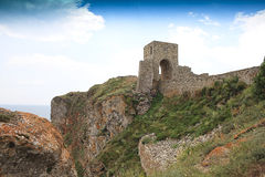 Medieval castle entrance. Of Cape Kaliakra, Bulgaria Royalty Free Stock Image