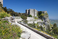 Medieval Castle in Erice, Sicily, Italy Royalty Free Stock Photos