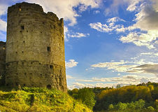 Medieval castle and fall beginning Royalty Free Stock Image