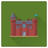 Medieval castle flat design vector illustration Stock Images